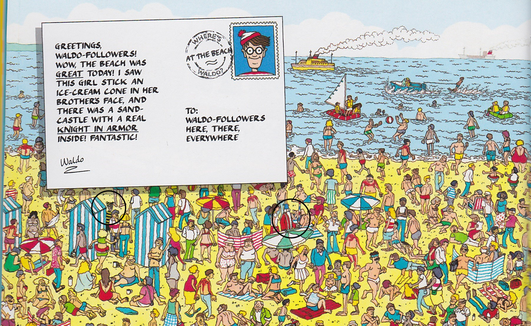 Where Is Woof In Where S Waldo At The Beach
