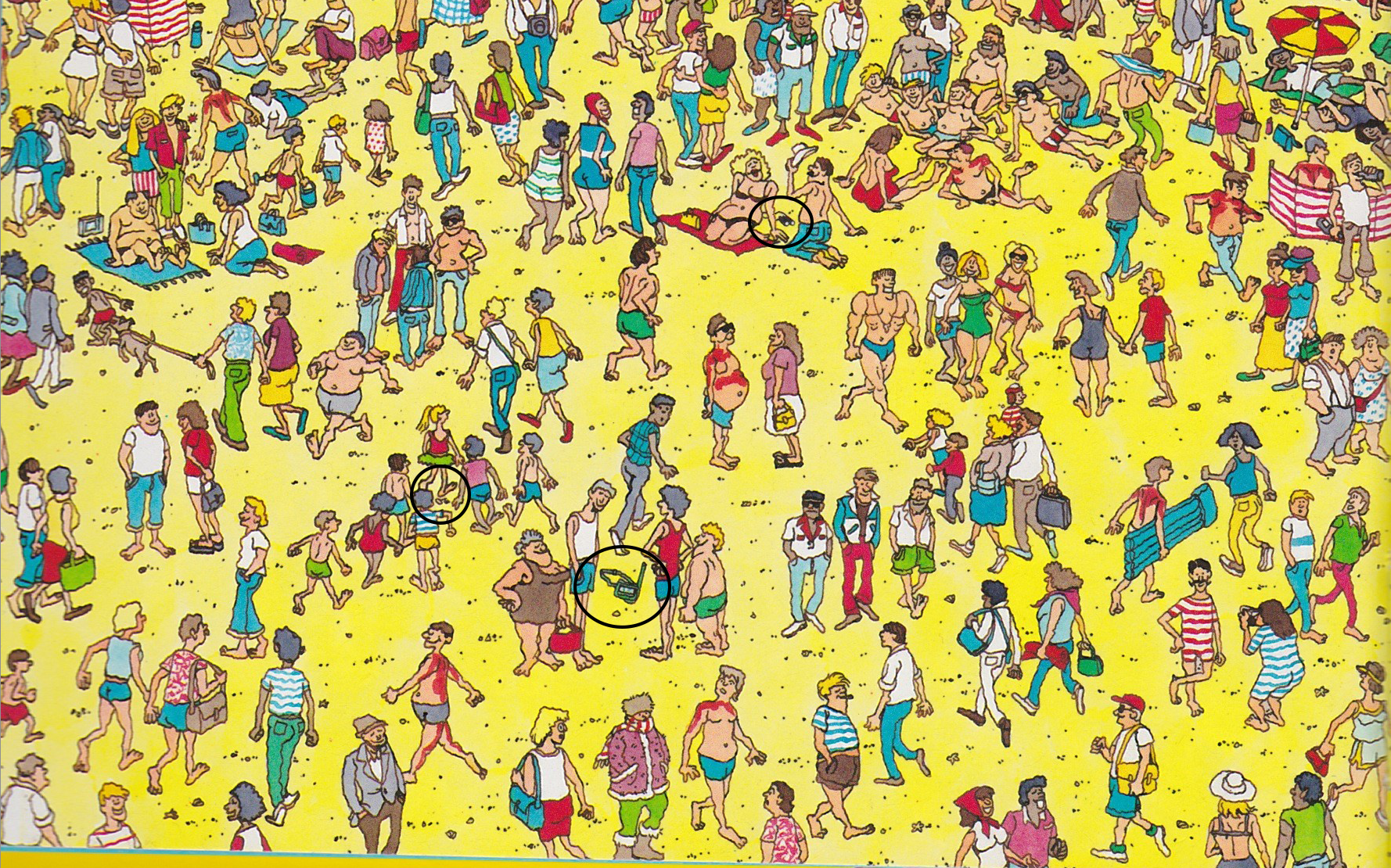 Where S Waldo Beach Scene Answer